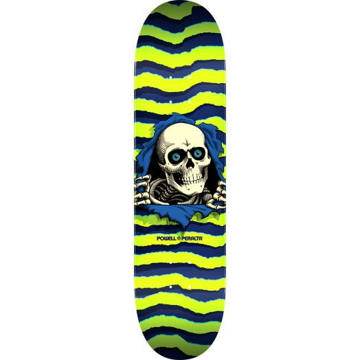 Powell Peralta Ripper Skateboard Blem Deck Lime - Shape 242 - 8 x 31.45