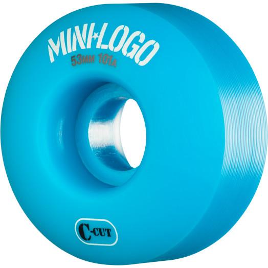 Mini Logo Skateboard Wheel C-cut 53mm 101A Blue 4pk