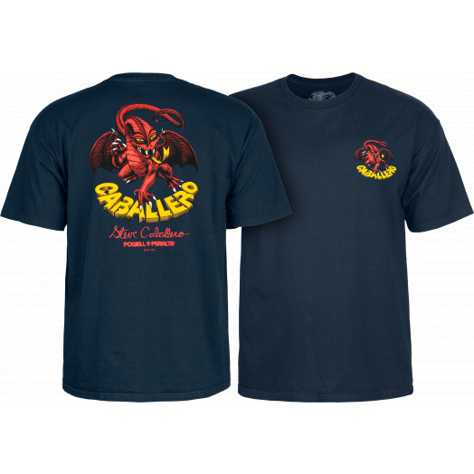 Powell Peralta Steve Caballero Original Dragon T-shirt - Navy