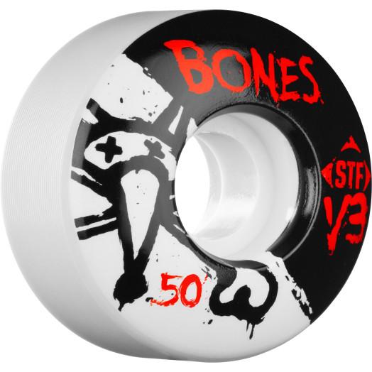 BONES STF V3 Series 50x28 Skateboard Wheel 83B 4pk
