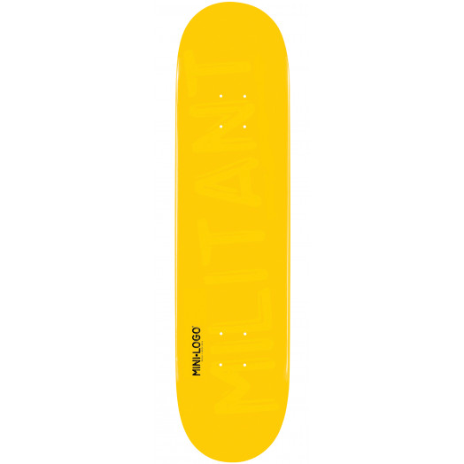 Mini Logo Militant Skateboard Deck 191 Yellow - 7.5 x 28.65