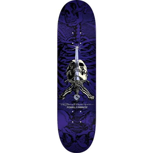 Powell Peralta Rodriguez Skull and Sword Skateboard Blem Deck Purple - Shape 244 - 8.5 x 32.08