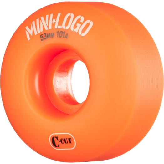 Mini Logo Skateboard Wheel C-cut 53mm 101A Orange 4pk