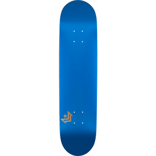 Mini Logo Chevron Skateboard Deck 191 Metallic Blue - 7.5 x 28.65