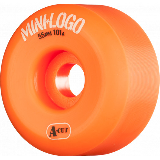 Mini Logo Skateboard Wheel A-cut 55mm 101A Orange 4pk