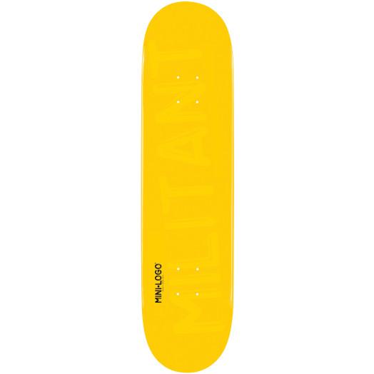 Mini Logo Militant Skateboard Deck 112 Yellow - 7.75 x 31.75