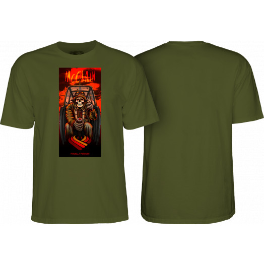 Powell Peralta Pro Brad McClain Pilot T-shirt Military Green