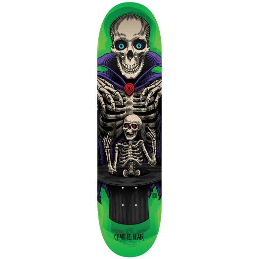 Powell Peralta Pro Charlie Blair Magician Skateboard Blem Deck Green - Shape 242 - 8 x 31.45