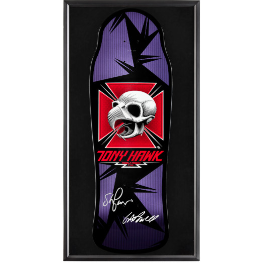 Bones Brigade® Shadowbox Hawk Blem Deck Signed by GAP/Stacy