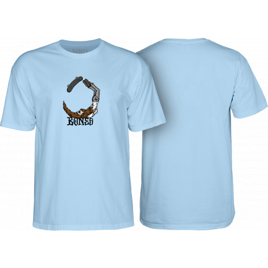 BONES WHEELS T-shirt Scorpion Blue