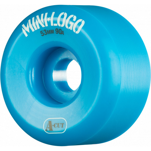 Mini Logo Skateboard Wheel A-cut 53mm 90A Blue 4pk