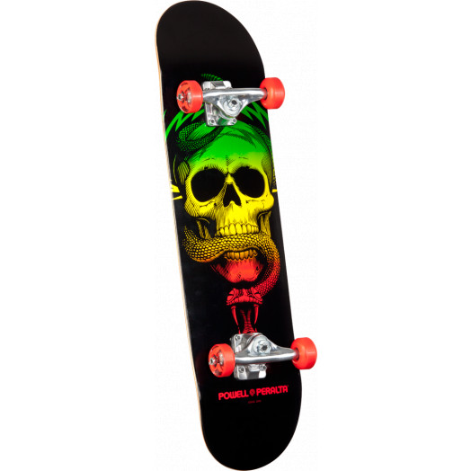 Powell Peralta Skull and Snake Complete Skateboard Red - 8 x 32.125