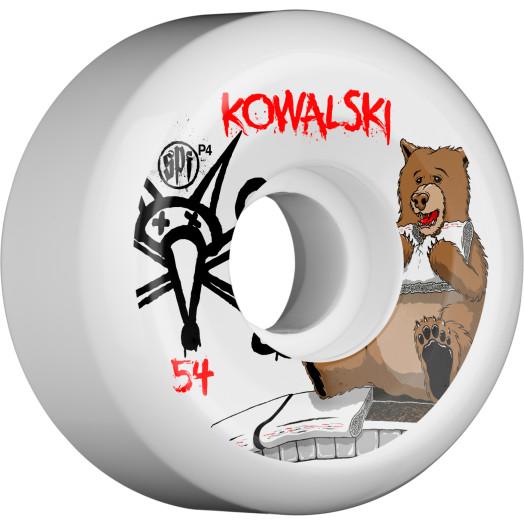 BONES SPF Pro Kowalski Bear 54x31 P5 Skateboard Wheel 4pk