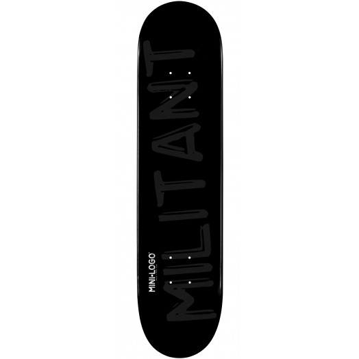 Mini Logo Militant Skateboard Deck 127 Black - 8 x 32.125