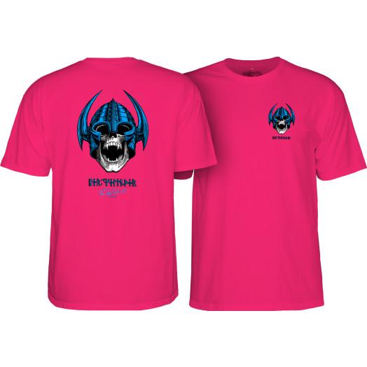 Powell Peralta Welinder Nordic Skull T-shirt Hot Pink