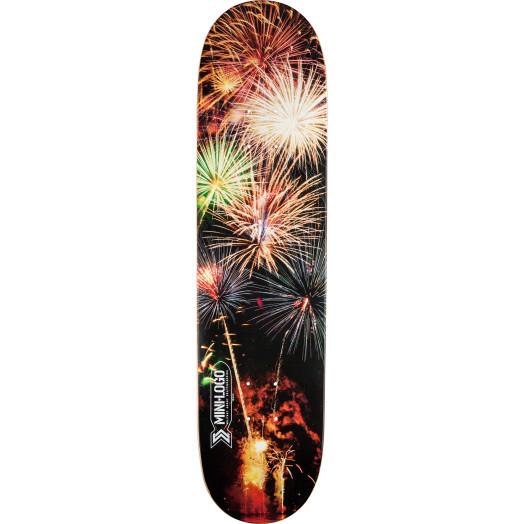 Mini Logo Small Bomb Skateboard Deck 249 Fireworks - 8.5 x 32