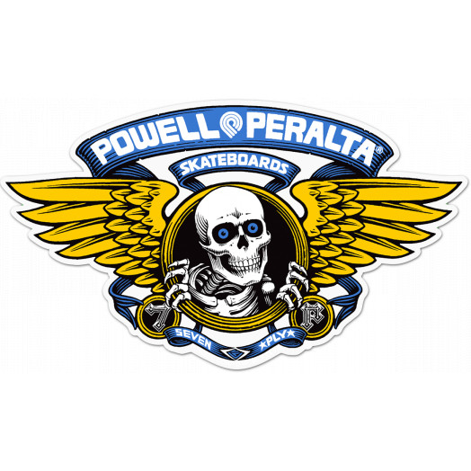 "Powell Peralta Winged Ripper 5"" Die-Cut Sticker 20pk- BLUE"