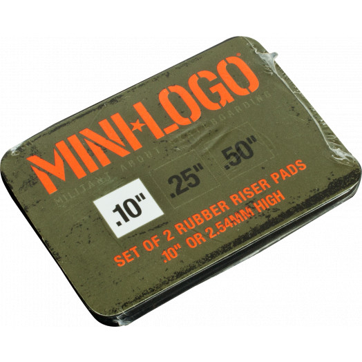 "Mini Logo Riser 3 single .1"" rubber pad"