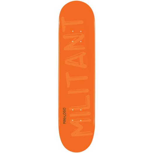 Mini Logo Militant Skateboard Deck 191 Orange - 7.5 x 28.65
