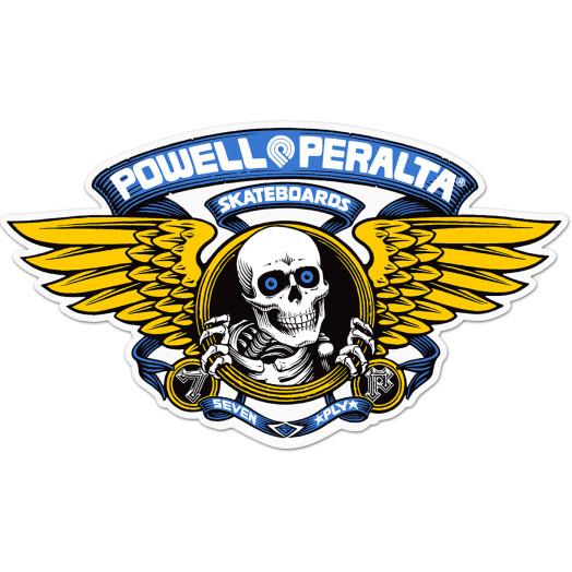 "Powell Peralta Winged Ripper 5"" Die-Cut Sticker Single - BLUE"