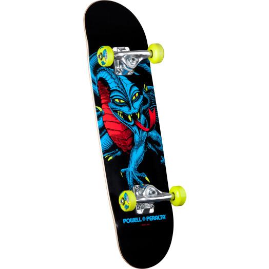 Powell Peralta Blacklight Caballero Dragon Green Complete Skateboard - 7.5 x 28.65