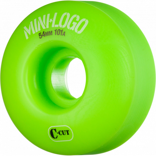 Mini Logo Skateboard Wheel C-cut 54mm 101A Green 4pk