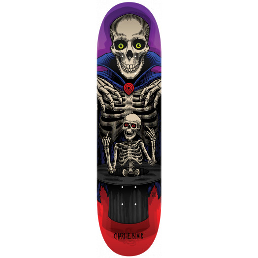 Powell Peralta Pro Charlie Blair Magician Skateboard Blem Deck Red/Purple - Shape 243 - 8.25 x 31.95