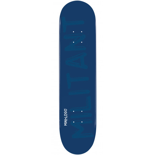 Mini Logo Militant Skateboard Deck 112 Navy - 7.75 x 31.75