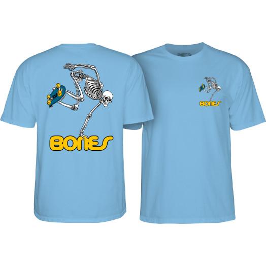 Powell Peralta Skateboarding Skeleton Youth T-shirt Carolina blue