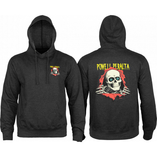 Powell Peralta Ripper Hooded Sweatshirt Charcoal