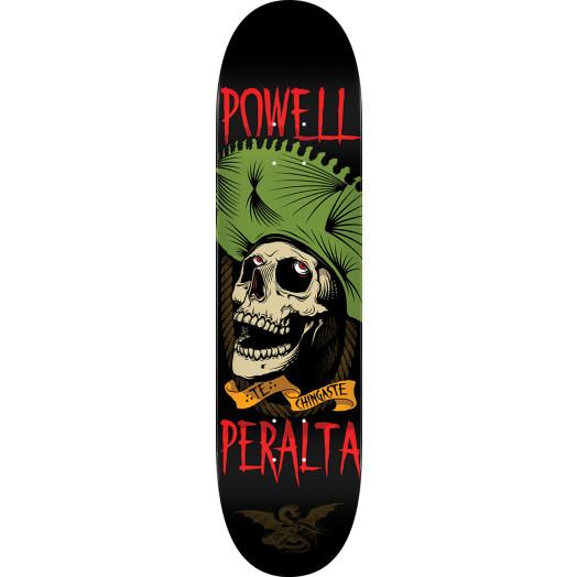 Powell Peralta Te Chingaste Skateboard Deck Green - Shape 248 - 8.25 x 31.95