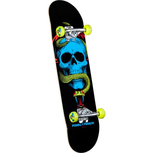 Powell Peralta Blacklight Skull & Snake Green Complete Skateboard - 8 x 32.125
