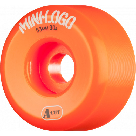 Mini Logo Skateboard Wheel A-cut 53mm 90A Orange 4pk