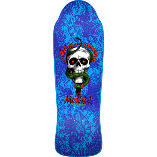 Bones Brigade® Mike McGill 10th Series Reissue Skateboard Deck Blue - 9.94 X 30.43