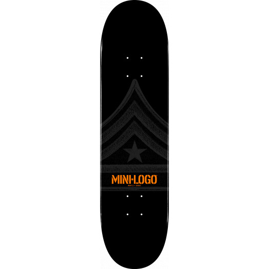 Mini Logo Quartermaster Skateboard Deck 188 Black - 7.88 x 31.67