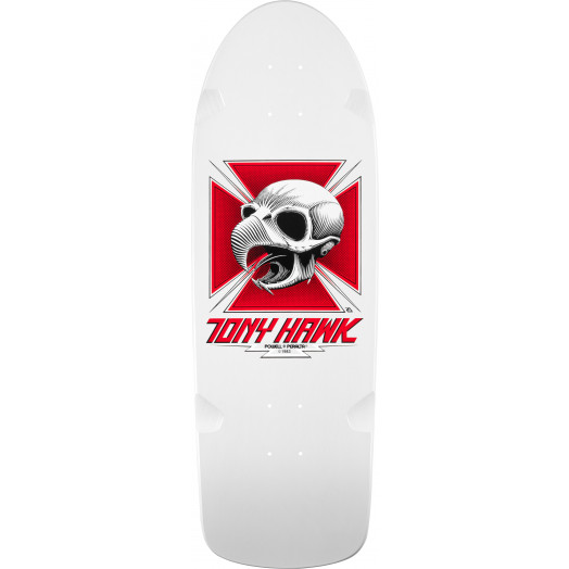 Bones Brigade® Tony Hawk Skull Reissue Skateboard Deck White - 10 x 30.05